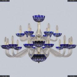 1308/12+6/360/2d G Cl/Clear-Blue/H-1I Хрустальная люстра Bohemia Ivele Crystal (Богемия), 1308