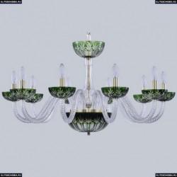 1308/10/300 G Cl/Clear-Green/H-1I Хрустальная люстра Bohemia Ivele Crystal (Богемия), 1308