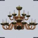 1308/12+6/360/2d G Am/Amber-Green/H-1J Хрустальная люстра Bohemia Ivele Crystal
