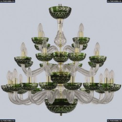 1309/16+8+4/300/3d G Cl/Clear-Green/H-1J Хрустальная люстра Bohemia Ivele Crystal