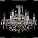 1406/6+3/195/G/Leafs Хрустальная подвесная люстра Bohemia Ivele Crystal (Богемия)