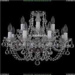 1406/8+4/195/Ni/Balls Хрустальная подвесная люстра Bohemia Ivele Crystal