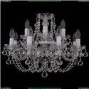 1406/8+4/195/Ni/Balls Хрустальная подвесная люстра Bohemia Ivele Crystal (Богемия)