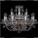 1406/8+4/195/Pa/Balls Хрустальная подвесная люстра Bohemia Ivele Crystal (Богемия)