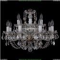 1406/8+4/195/Pa/Leafs Хрустальная подвесная люстра Bohemia Ivele Crystal