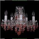 1410/5/141/Ni/V7010 Хрустальная подвесная люстра Bohemia Ivele Crystal (Богемия)