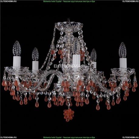 1410/5/195/Ni/7010 Хрустальная подвесная люстра Bohemia Ivele Crystal (Богемия)