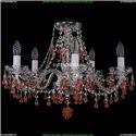 1410/5/195/Ni/V7010 Хрустальная подвесная люстра Bohemia Ivele Crystal