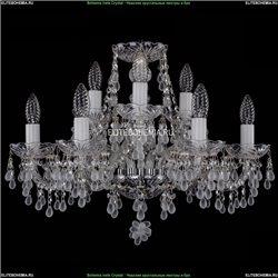 1410/6+3/195/Ni/V0300 Хрустальная подвесная люстра Bohemia Ivele Crystal