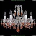 1410/6/160/Ni/V7010 Хрустальная подвесная люстра Bohemia Ivele Crystal (Богемия)