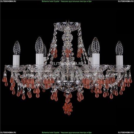 1410/6/195/Ni/7010 Хрустальная подвесная люстра Bohemia Ivele Crystal (Богемия)