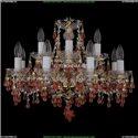 1410/8+4/195/G/V7010 Хрустальная подвесная люстра Bohemia Ivele Crystal