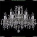 1410/8+4/195/Ni/V0300 Хрустальная подвесная люстра Bohemia Ivele Crystal