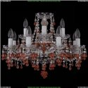 1410/8+4/195/Ni/V7010 Хрустальная подвесная люстра Bohemia Ivele Crystal