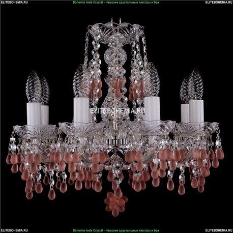 1410/8/141/Ni/7010 Хрустальная подвесная люстра Bohemia Ivele Crystal (Богемия)