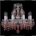 1410/8/141/Ni/V7010 Хрустальная подвесная люстра Bohemia Ivele Crystal (Богемия)