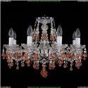 1410/8/195/Ni/V7010 Хрустальная подвесная люстра Bohemia Ivele Crystal