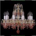 1410/10/141/G/V7010 Хрустальная подвесная люстра Bohemia Ivele Crystal