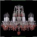 1410/10/141/Ni/V7010 Хрустальная подвесная люстра Bohemia Ivele Crystal