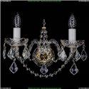 1411/2/G/Big/Leafs Хрустальное бра Bohemia Ivele Crystal (Богемия)