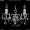 1411/2/G/Leafs Хрустальное бра Bohemia Ivele Crystal (Богемия)