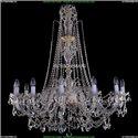 1411/12/380-115/G Хрустальная подвесная люстра Bohemia Ivele Crystal (Богемия)