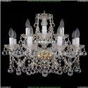 1413/8+4/200/G/Balls Хрустальная подвесная люстра Bohemia Ivele Crystal