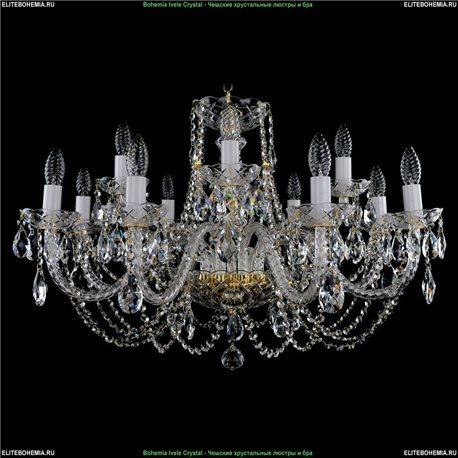 1406.8+4.300 Bohemia Ivele Crystal, Чешская Подвесная люстра с хрустальным рожком