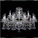 1413/10+5/300/Ni/Balls Хрустальная подвесная люстра Bohemia Ivele Crystal