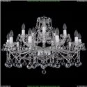 1413/10+5/300/Ni/Balls Хрустальная подвесная люстра Bohemia Ivele Crystal (Богемия)
