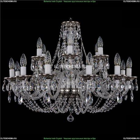 1606/12+6/300/NB Хрустальная подвесная люстра Bohemia Ivele Crystal (Богемия)