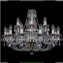 1606/12+6/300/NB Хрустальная подвесная люстра Bohemia Ivele Crystal