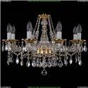 1613/8/220/G/Leafs Хрустальная подвесная люстра Bohemia Ivele Crystal