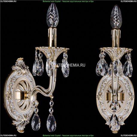 1700/1/110/A/GW Бра с элементами художественного литья и хрусталем Bohemia Ivele Crystal (Богемия)