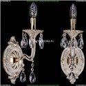 1702B/1/CK125IV/A/GW Бра с элементами художественного литья и хрусталем Bohemia Ivele Crystal