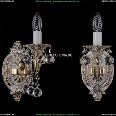 1700/1/A/GW/Balls Бра с элементами художественного литья и хрусталем Bohemia Ivele Crystal (Богемия)