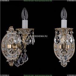 1702B/1/175/B/GW/Leafs Бра с элементами художественного литья и хрусталем Bohemia Ivele Crystal
