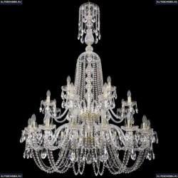 1402/16+8+4/400/XL-160/2d/G Хрустальная подвесная люстра Bohemia Ivele Crystal
