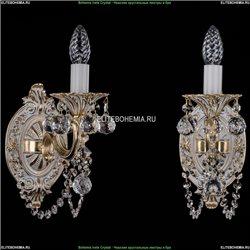 1702B/1/175/C/GW/Balls Бра с элементами художественного литья и хрусталем Bohemia Ivele Crystal