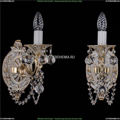 1700/1/C/GW/Balls Бра с элементами художественного литья и хрусталем Bohemia Ivele Crystal (Богемия)