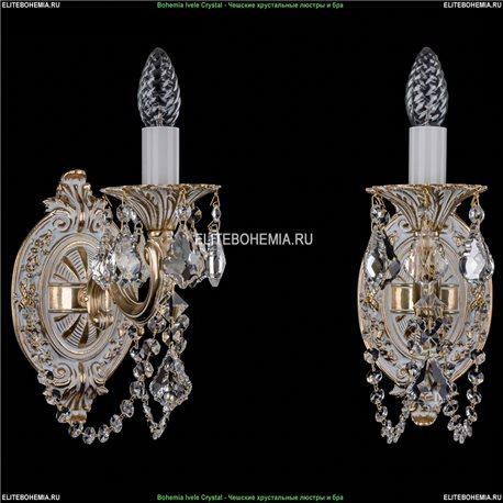 1700/1/C/GW/Leafs Бра с элементами художественного литья и хрусталем Bohemia Ivele Crystal (Богемия)