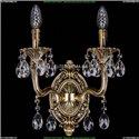 1702B/2/CK125IV/A/GB Бра с элементами художественного литья и хрусталем Bohemia Ivele Crystal