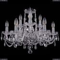 1402/6+3/195/Ni Хрустальная подвесная люстра Bohemia Ivele Crystal