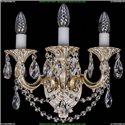 1702B/2+1/175/C/GW Бра с элементами художественного литья и хрусталем Bohemia Ivele Crystal