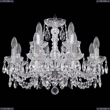 1402/8+4/195/Ni Хрустальная подвесная люстра Bohemia Ivele Crystal