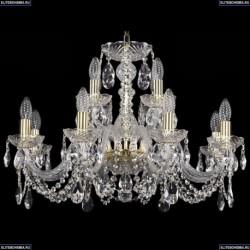 1402/8+4/240/G Хрустальная подвесная люстра Bohemia Ivele Crystal