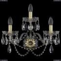 1402B/2+1/195/XL/G Хрустальное бра Bohemia Ivele Crystal