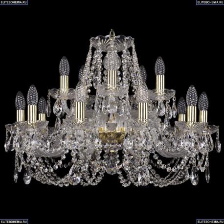 1406/10+5/240/G Хрустальная подвесная люстра Bohemia Ivele Crystal