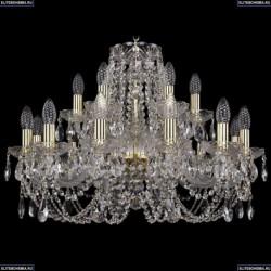 1406/12+6/240/G Хрустальная подвесная люстра Bohemia Ivele Crystal (Богемия)