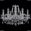 1406/6/195/Ni Хрустальная подвесная люстра Bohemia Ivele Crystal